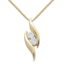 9K Yellow Gold 0.20 Carat Diamond (Rnd) Pendant With Chain SGL Certified (I3/G-H)