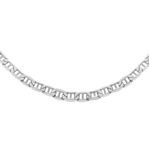 JCK Vegas Collection Rhodium Plated Sterling Silver Rambo Chain (Size 24), Silver wt 5.90 Gms.