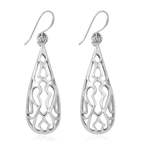 Thai Sterling Silver Hook Earrings, Silver wt 4.08 Gms.