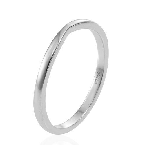 RHAPSODY 950 Platinum Shaped Wedding Band Ring, Platinum wt 3.10 Gms.