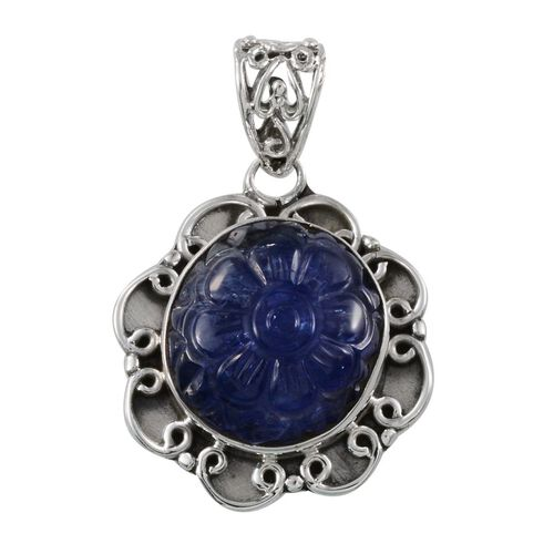 Jewels of India Tanzanite Pendant in Sterling Silver 20.400 Ct.