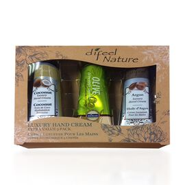Beauty Products Set of 3x40g Hand Creams Coconut, Olive and Argan