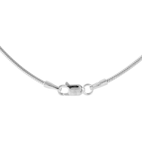 JCK Vegas Collection Rhodium Plated Sterling Silver Necklace (Size 24), Silver wt 11.70 Gms.