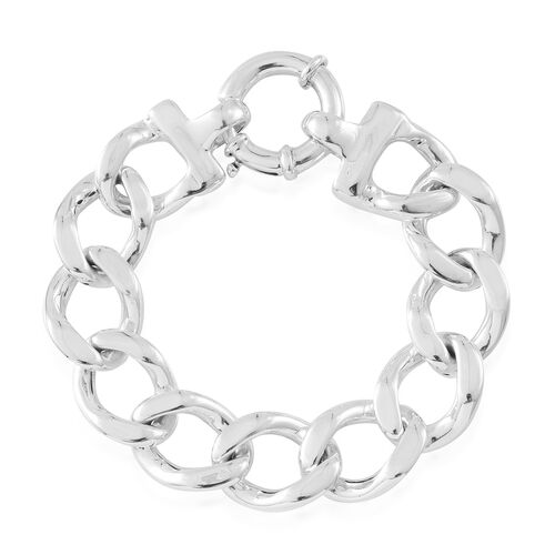 Vicenza Collection-Sterling Silver Curb Bracelet (Size 7.5), Silver wt. 21.15 Gms.