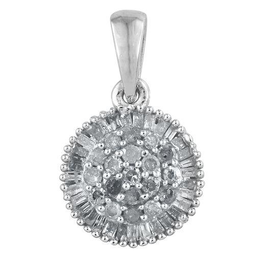 Designer Inspired-Diamond (Rnd) Pendant in Platinum Overlay Sterling Silver 0.500 Ct.