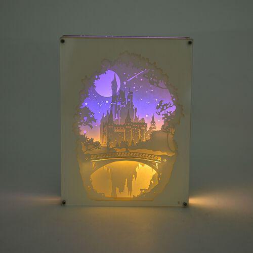 Home Decor - Fairy Tale Lighting with Paper Cut 3D Enchanted Castle Motif (Size 20.8x15.8x4.2 Cm)