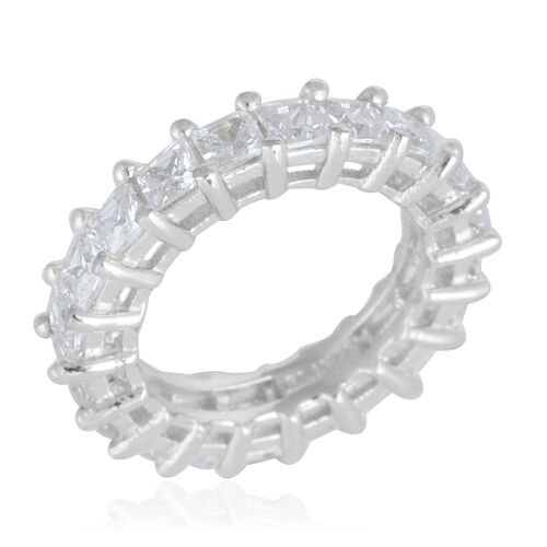 Simulated Diamond (7.25 Ct) Sterling Silver Ring  7.250  Ct.