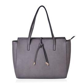 Grey Colour City Carryall Big Size Tote Bag (Size 42x35x28x13 Cm)