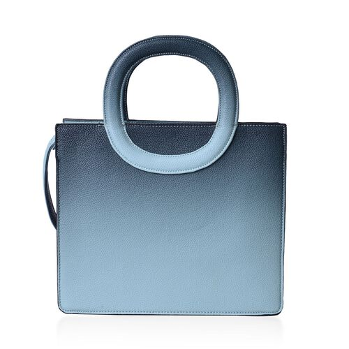 Green Colour Tote Bag with Adjustable Shoulder Strap (Size 29x24.5x11 Cm)