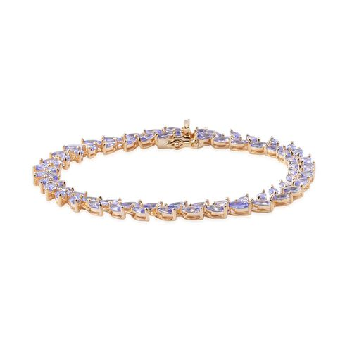 AA Tanzanite (Mrq) Bracelet (Size 8) in 14K Gold Overlay Sterling Silver 9.750 Ct.
