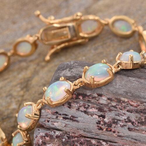 Ethiopian Welo Opal (Ovl) Bracelet (Size 7.25) in 14K Gold Overlay Sterling Silver 6.500 Ct.