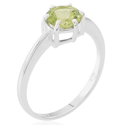 Hebei Peridot (Rnd) Solitaire Ring in Sterling Silver