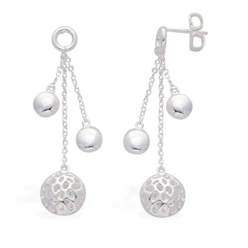 RACHEL GALLEY Memento Disc Earrings (with Push Back) in Sterling Silver, Silver wt 6.10 Gms.