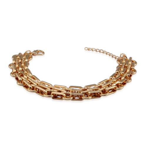 Chain Bracelet (Size 7.5 with 1 inch Extender) in Gold Tone