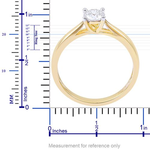 ILIANA 18K Yellow Gold IGI Certified Diamond (Rnd) (SI/H) Solitaire Ring 0.500 Ct.