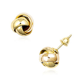Collectors Edition- 22K Y Gold Knot Stud Earrings (with Push Back), Gold wt. 4.77 Gms.