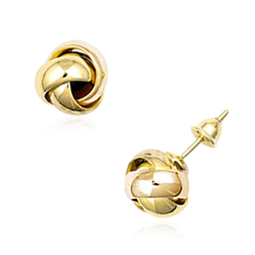 Collectors Edition- 22K Yellow Gold Knot Stud Earrings (with Push Back), Gold wt. 4.77 Gms.