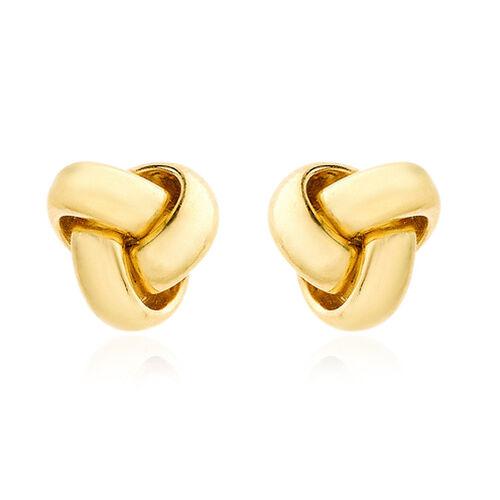 Italian Made ILIANA 18K Y Gold Knot Stud Earrings (with Push Back)