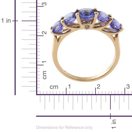 Exclusive Edition ILIANA 18K Y Gold AAA Tanzanite (Rnd), Diamond Ring 2.500 Ct. Gold Wt. 3.10 Gram