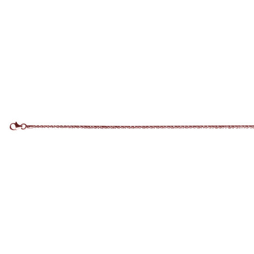 JCK Vegas Collection Rose Gold Overlay Sterling Silver Rock Chain (Size 30), Silver wt 5.27 Gms.