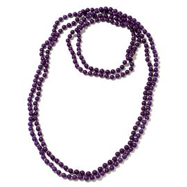 Hongkong Show Deal Purple Howlite Beads Necklace (Size 100) 850.000 Ct.