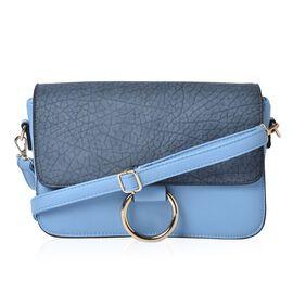 Stella Dusk Blue Colour Crossbody Bag with Adjustable and Removable Shoulder Strap (Size 27.5x18x8 Cm)