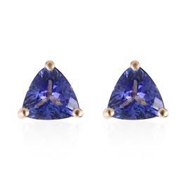 ILIANA 18K Yellow Gold 1.25 Ct AAA Tanzanite (Trl) Stud Earrings (with Screw Back)