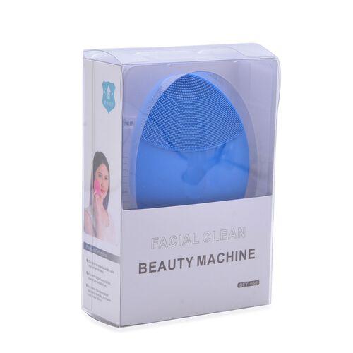 Blue Colour Silicon Face Cleansing Brush (Size 10x10 Cm)
