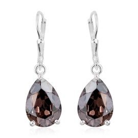 J Francis Crystal from Swarovski - Vintage Rose Crystal (Pear) Lever Back Earrings in Sterling Silver