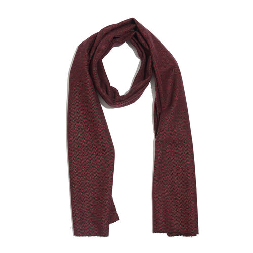 Red Colour Designer Muffler Scarf (Size 170x35 Cm)