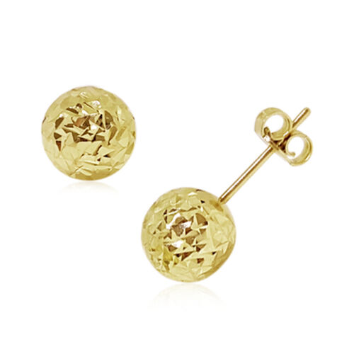 Limited Available - Designer Inspired 9K Y Gold Stud Earrings (with Push Back)