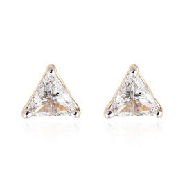 14K Yellow Gold Diamond (Trl) (I1-I2) Stud Earrings (with Push Back) 0.300 Ct.