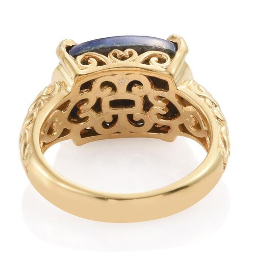 Lapis Lazuli (Cush) Ring in ION Plated 18K Yellow Gold Bond 10.000 Ct.