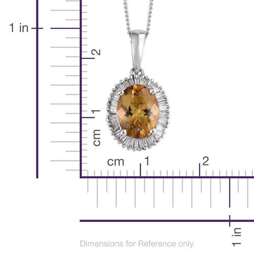 Marialite (Ovl 1.50 Ct), Diamond Pendant With Chain in Platinum Overlay Sterling Silver 1.750 Ct.