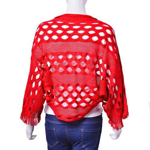 Red Colour Shrugs (Size 140x25 Cm)