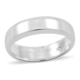 Vicenza Collection Sterling Silver High Polished Band Ring, Silver wt 5.01 Gms.