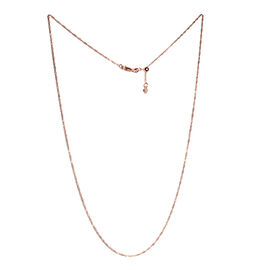 JCK Vegas Collection Rose Gold Overlay Sterling Silver Adjustable Singapore Chain (Size 24)