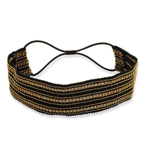 Black and Gold Stretchable Headband