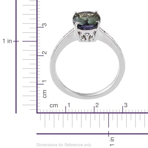 ILIANA Very Rare 3.90 Ct AAA Peacock Tanzanite and Diamond IGI Certified (SI/G-H) Ring in 18K White Gold