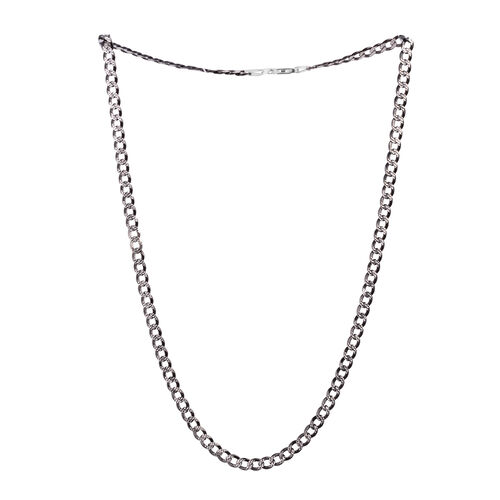 Close Out Deal Sterling Silver Curb Necklace (Size 22), Silver wt 15.00 Gms.