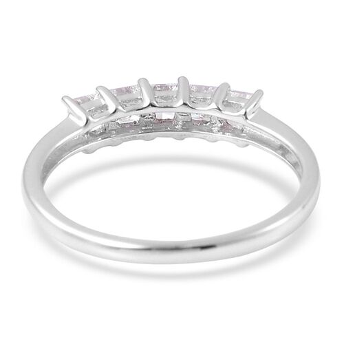 ILIANA 18K White Gold IGI Certified Diamond (Princess Cut) (SI G-H) 5 Stone Ring 0.500 Ct.