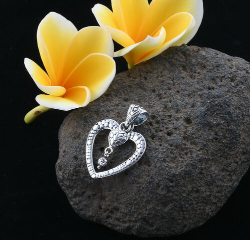 Royal Bali Collection Sterling Silver Heart Pendant