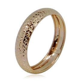 Royal Bali Collection 9K R Gold Diamond Cut Band Ring