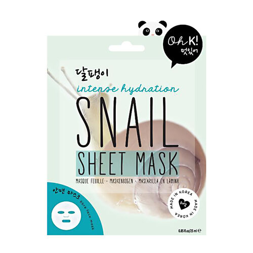 OH K-  Snail Sheet Mask, Black Sesame Hydrogel Mask & Gold Dust Hydrogel Mask 25ml