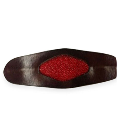 Brown and Red Original Stingray Leather cuff Bangle Size 7 inch