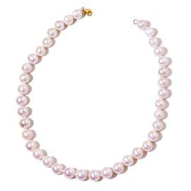 ILIANA 18K Y Gold AAAA Fresh Water White Pearl (Rnd 12-13mm) Ball Necklace (Size 18)