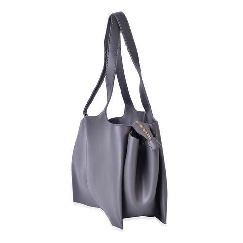 Grey Colour Tote Bag (Size 53x37x25x11 Cm)