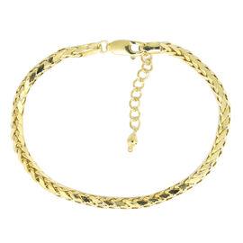 9K Y Gold Diamond Cut Spiga Bracelet (Size 7 with 1 inch Extender), Gold wt 3.84 Gms.