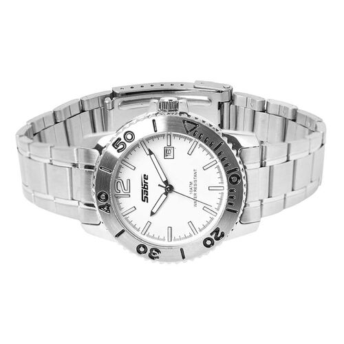 SABRE 10ATM Water Resistant Watch in Silver Tone