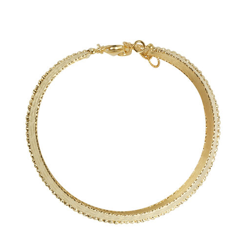 Designer Inspired -9K Yellow Gold Bangle (Size 7 with 1 inch Extender), Gold Wt 12.03 Gms
